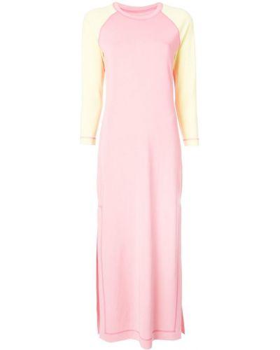 Платье макси с разрезами по бокам - розовое Marc Jacobs