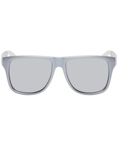 Fioletowe okulary skorzane Alexander Mcqueen
