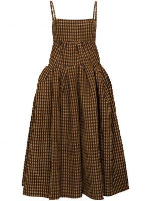 Brązowa sukienka wełniana Rejina Pyo