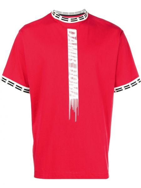 Красная хлопковая футболка Damir Doma