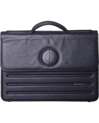 Кожаный портфель - серый Bertone Design