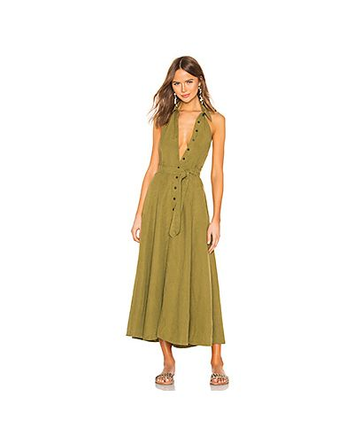 Платье с поясом на пуговицах с карманами Mara Hoffman