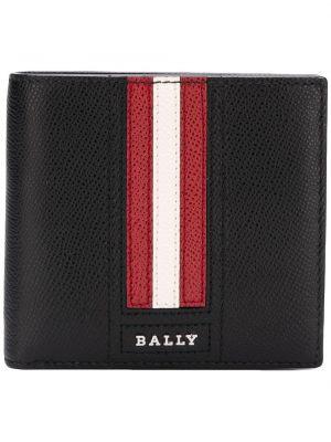 Czarny portfel skórzany Bally