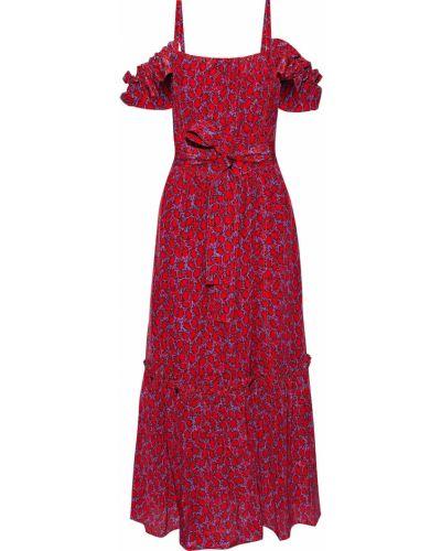 Шелковое красное платье миди с подкладкой Derek Lam 10 Crosby