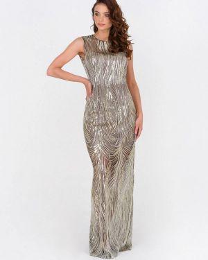 Вечернее платье золотой Ricamare