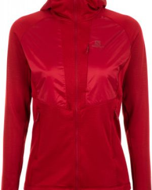 Красная теплая кофта Salomon