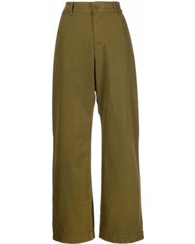 Широкие брюки - зеленые Barena