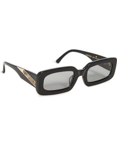 Солнцезащитные очки золотые с вырезом Poppy Lissiman