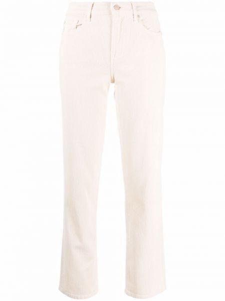 Белые укороченные брюки 7 For All Mankind