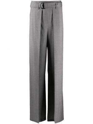 Шерстяные серые брюки свободного кроя Christian Wijnants