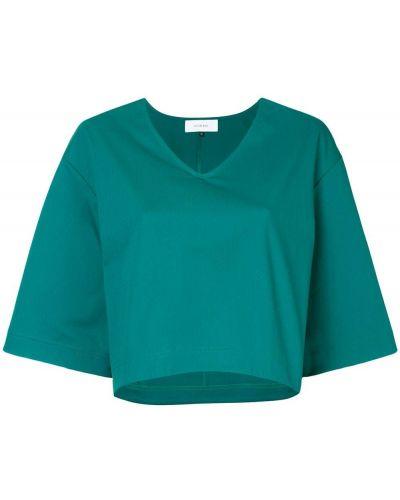 Кроп-топ свободный зеленый Le Ciel Bleu