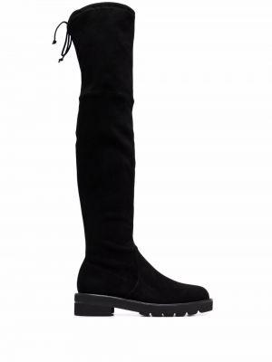 Черные ботфорты на шнуровке Stuart Weitzman