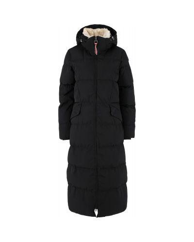 Пальто с капюшоном - черное Luhta