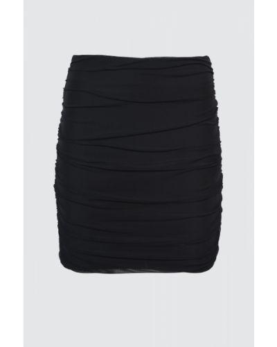 Czarna spódnica tiulowa z paskiem Trendyol