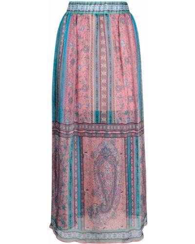 С завышенной талией синяя прямая юбка макси Hale Bob