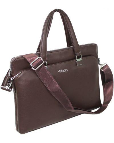 Кожаный портфель - коричневый Villado