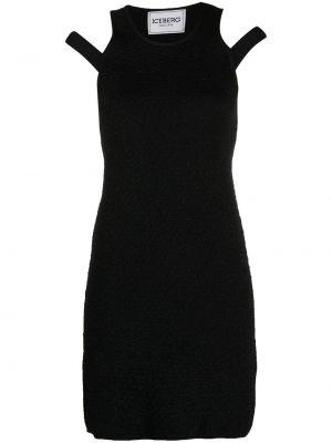 Прямое черное платье без рукавов Iceberg