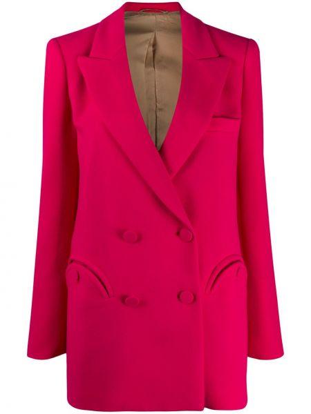 Классическая прямая розовая куртка с карманами Blazé Milano