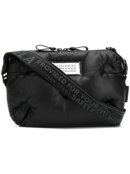 Черная сумка на плечо на молнии из овчины Maison Margiela