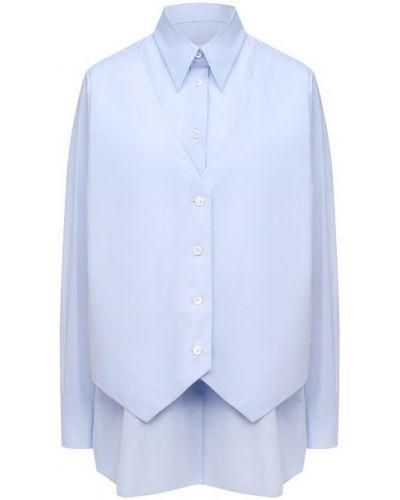 Хлопковая рубашка - голубая Mm6