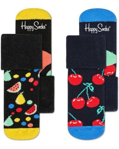 Колготы бирюзовый Happy Socks