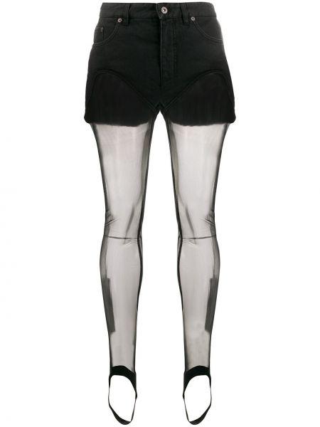 Черные шорты прозрачные на пуговицах Y/project