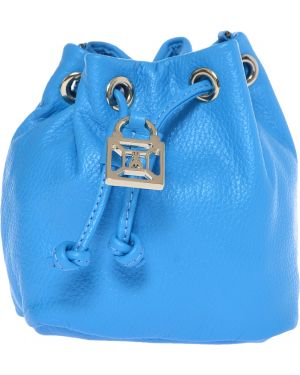 Кожаная сумка - синяя Patrizia Pepe