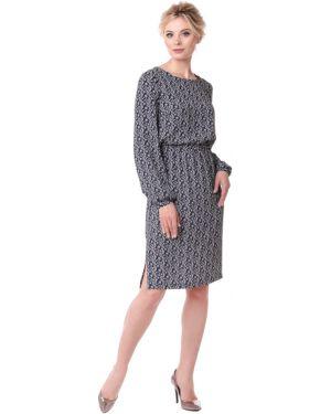 Повседневное платье на пуговицах на резинке Zip-art