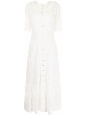Хлопковое платье миди - белое Loveshackfancy