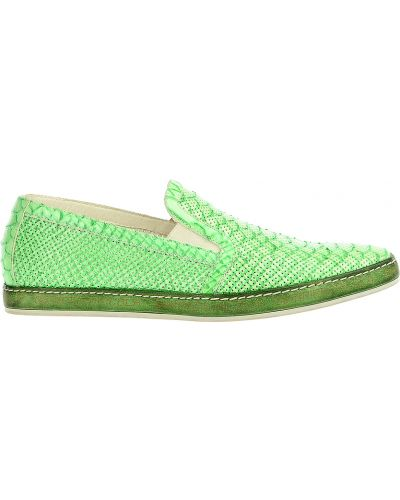 Зеленые слипоны с перфорацией Giampiero Nicola