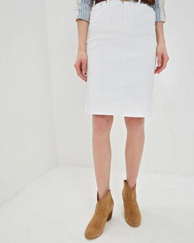 Джинсовая юбка белая Lauren Ralph Lauren