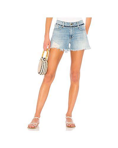 Джинсовые шорты рваные с карманами Frame