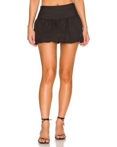 Шелковая юбка - черная Amanda Uprichard