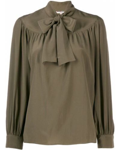 Блузка с воротником-стойкой винтажная Yves Saint Laurent Pre-owned