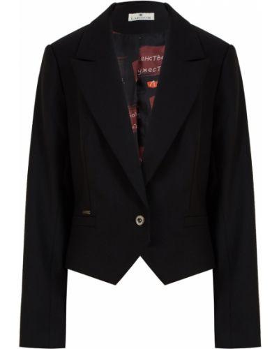 Однобортный черный пиджак с подкладкой из вискозы Laroom