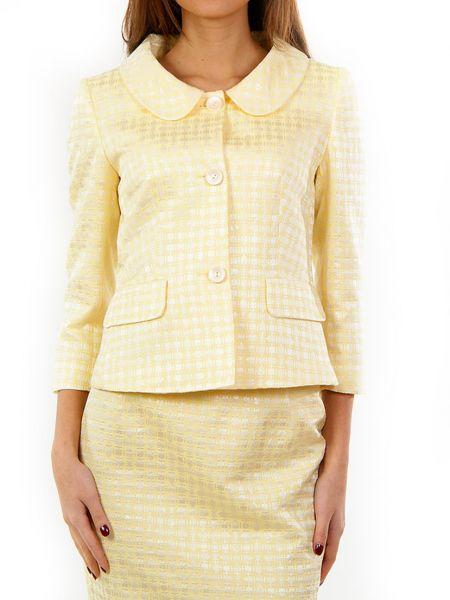 Хлопковый желтый пиджак Perspective