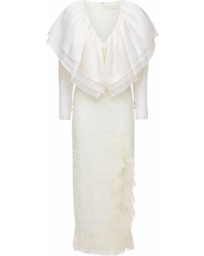 Biała sukienka koronkowa Sandra Mansour