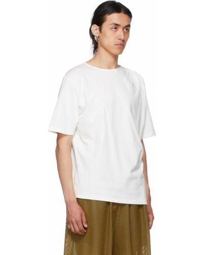 Biała t-shirt bawełniana krótki rękaw Vejas