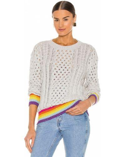 Серебряный кашемировый свитер винтажный Le Superbe