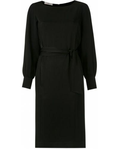 Платье с поясом на шнуровке с вырезом Egrey