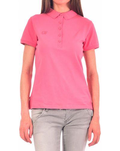 Хлопковый поло - розовый Gf Ferre