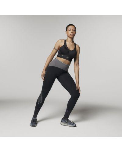 Черные спортивные леггинсы для полных Adidas