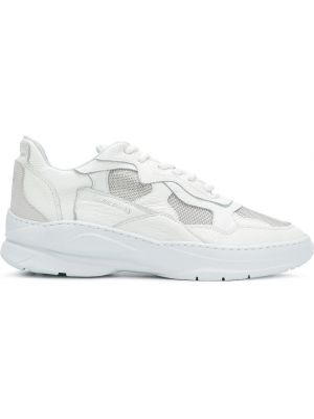 Skórzane sneakersy białe różowy Filling Pieces