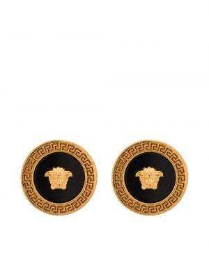 Czarne złote kolczyki Versace