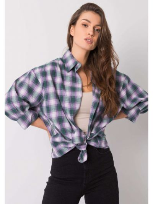 Zielona koszula bawełniana Fashionhunters