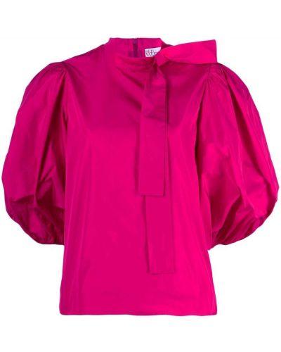 Блузка с бантом - розовая Red Valentino