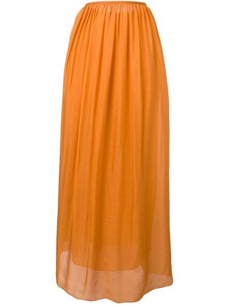 Плиссированная юбка с завышенной талией макси Forte Forte