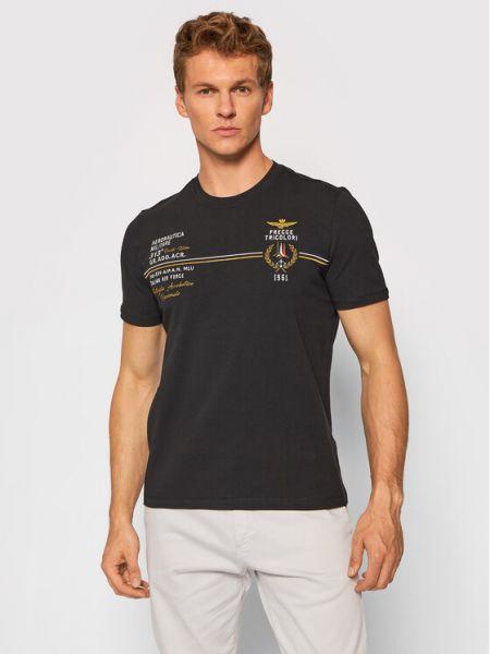 Czarna t-shirt Aeronautica Militare