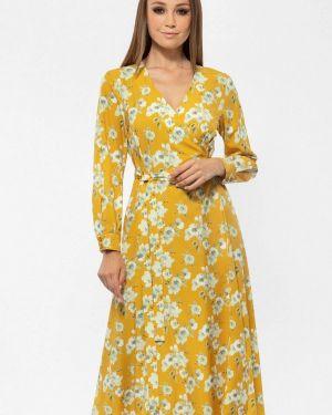 Платье с запахом осеннее Vladi Collection