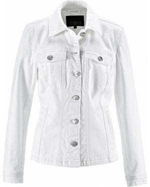 Джинсовая куртка на пуговицах с карманами Bonprix